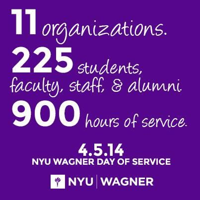 We're kicking off #NYUWagner's 2nd Annual Day of Service! Tweet your photos + experiences using #WagnerCares http://t.co/Nre5CtZpt5