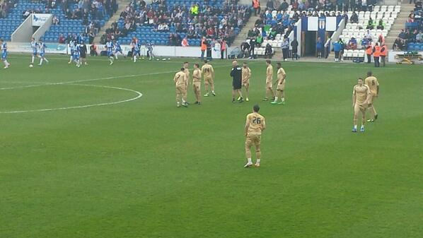 Tranmere banned from wearing their away strip at Colchester so Scousers play in the Us gold away kit [Pictures]