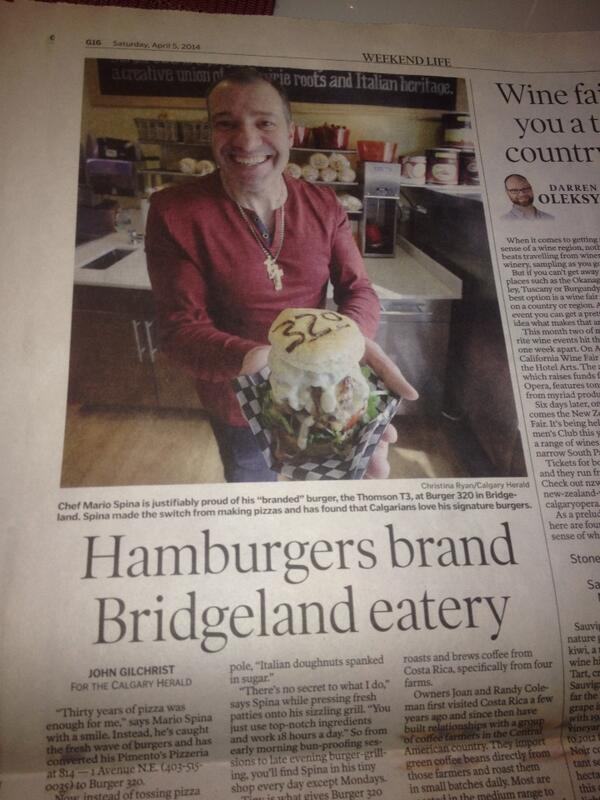 Good morning calgary ...today we are all smiles check out @GilchristJohn review. @burger320 @BayaRicaCafe http://t.co/7INZzcnOdx