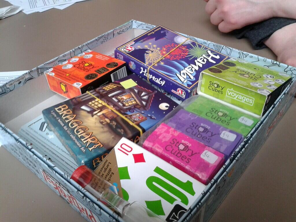 game box.