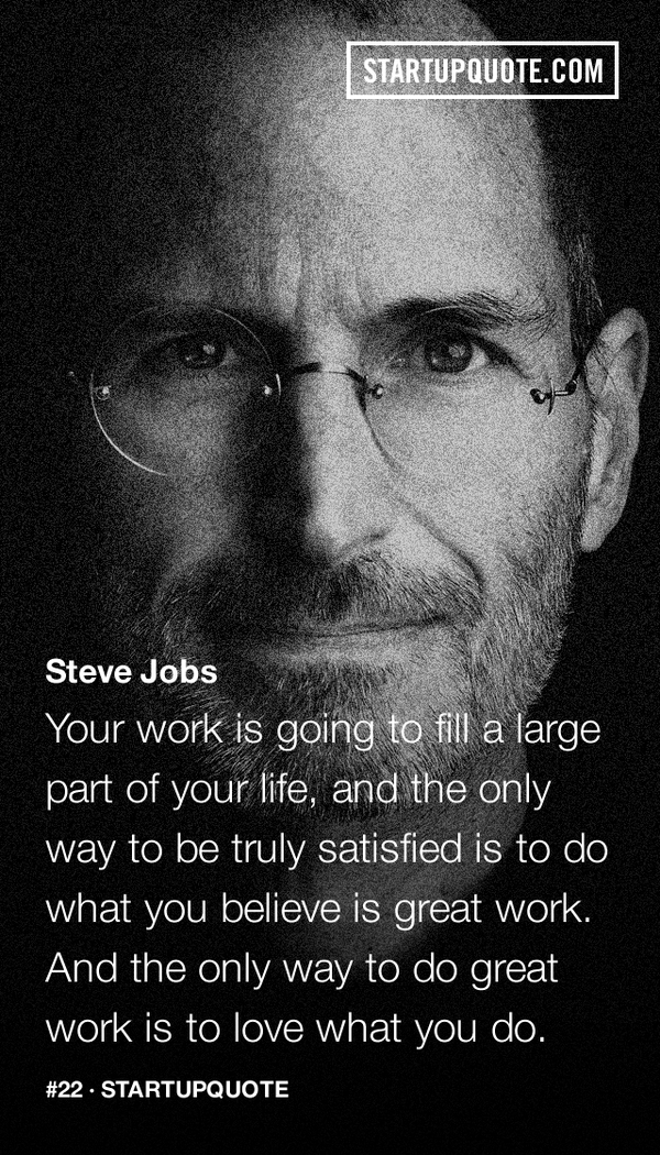Steve Jobs' quote http://t.co/X5kXK0yYky