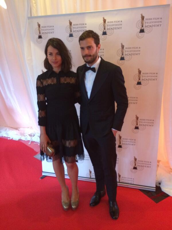 Jamie Dornan with his wife, Amelia. #IFTA2014 http://t.co/JrNFmA1jFL