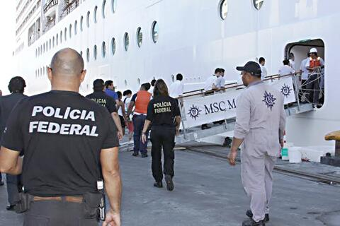 #Brazil labor officials & police raid @MSCCruisesUSA  Magnifica #cruise ship / first dumping garbage now abusing crew http://t.co/8AVymt5mHx