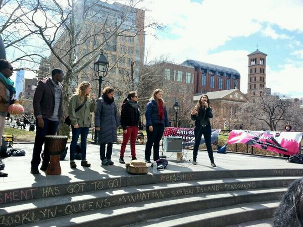 "Applied Theater Collective facilitates a ""music box protest""! #endSHnyc http://t.co/gtYRkekmOt"