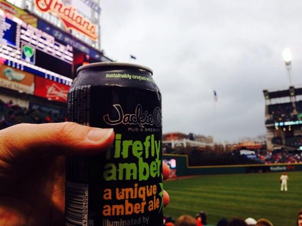 A great shot of #firefly from the #TribeOpener - cans are available in sections 149 and 176!!  @Indians #craftcans http://t.co/0oGUtG9Mjq