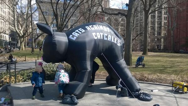 Cats against catcalls! #endSHnyc @iHollaback http://t.co/s7aqPsQyM0