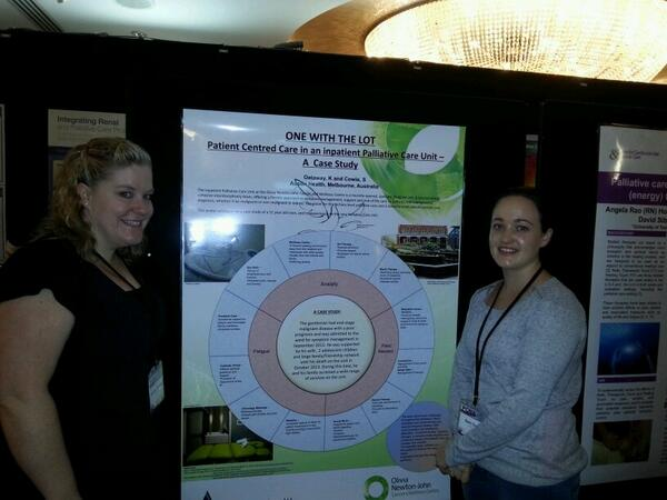 Sam and Kristen from ONJ Centre, Austin Health with their poster #pcna14 http://t.co/2tPQEQOHXG