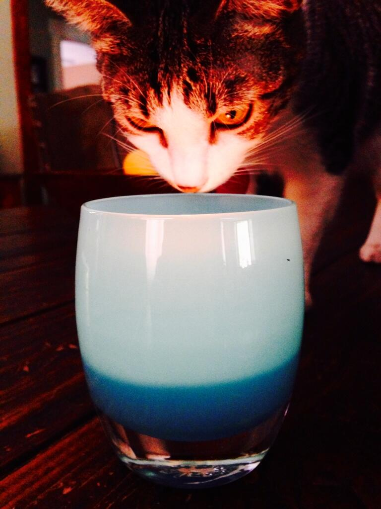 Twitter / TheGoToMom: We light our @glassybaby candle ...
