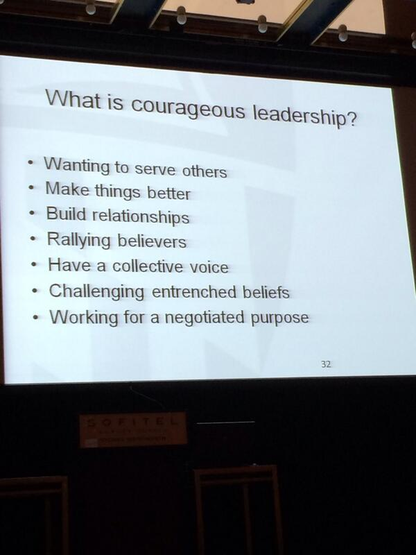 We need to be courageous leaders @nursingdean #PCNA14 http://t.co/9cCZiLrWhK