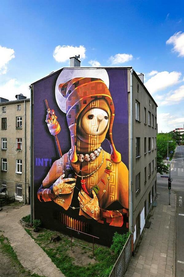 Street Art On Twitter Holy Warrior Street Art Mural By Inti