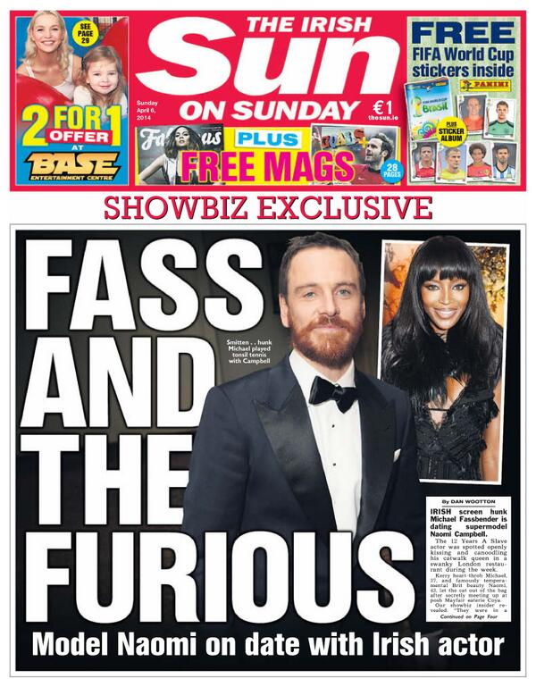 Michael Fassbender Dating Supermodel Naomi Campbell? | Michael ...