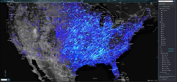 MT @coreyspowell: Every tornado in continental US since 1950! http://t.co/0CQFpKVIf2 HT @JohnNelsonIDV http://t.co/U1bpWclcTd