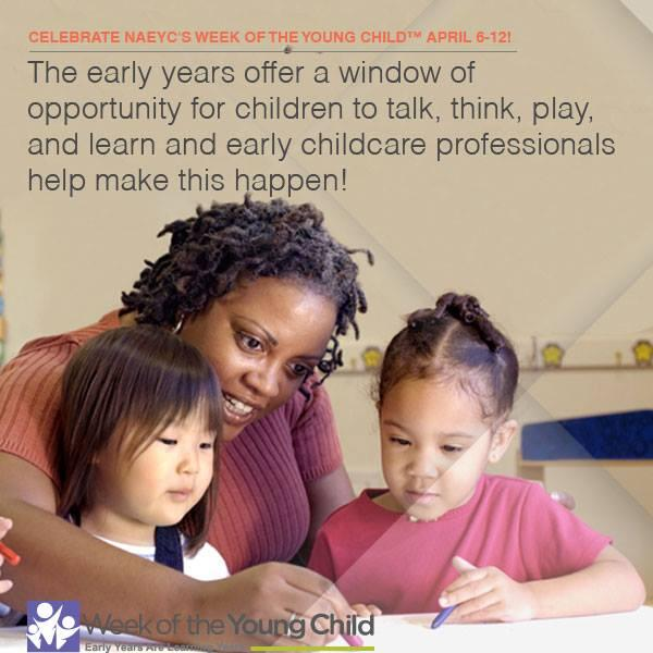 We'd like thank #ece professionals for the important work they do. Celebrate—it's the Week of the Young Child! http://t.co/WaDKC4GHvO