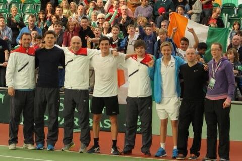 Great win for the boys v Egypt today. Team photo time #DavisCup http://t.co/XF42a2UAGk