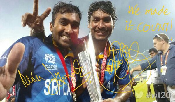 "Farewell MT ""@ICC: .@MahelaJay & @KumarSanga2 sign off from #wt20 win 2014  http://t.co/z3BhLJWUmd"""