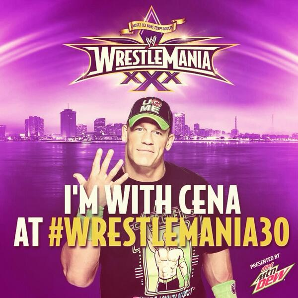 RETWEET if you are #TeamCena! #WrestleMania30 @JohnCena http://t.co/Q2yqouRlgx