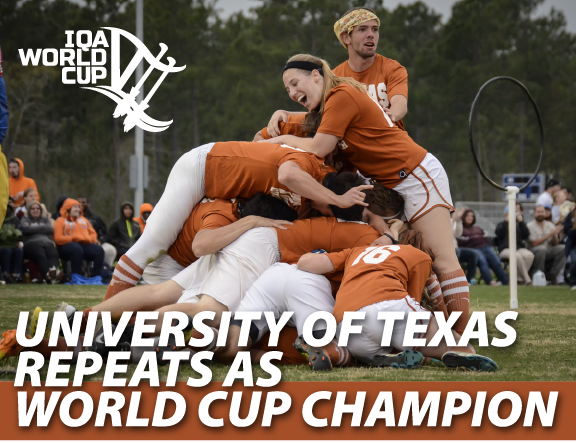 The University of Texas defended its World Cup VI crown! Congrats @TexasQuidditch! http://t.co/wPCOTRKxnu #WorldCup7 http://t.co/OW1dx9oV8n