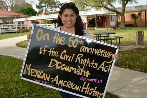 "#VoteMAS on 50th Anniv of CivilRightsAct @donnabahorich @latinorebels @Librotraficante http://t.co/JETmaTUMI8"" @statesman #CivilRightsSummit"
