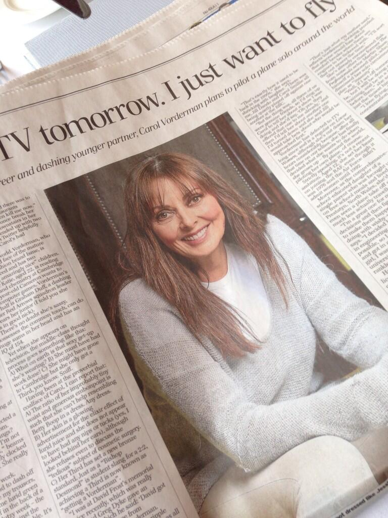 RT @carolsmillie1: @carolvorders great piece in 2days @Telegraph I laughed out loud reading about our competitiveness! http://t.co/HFJzGFab…