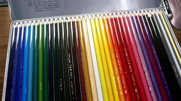 完成ー!色鉛筆描きました!!! pic.twitter.com/nPQzayCxSk