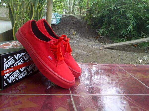 vans authentic all red