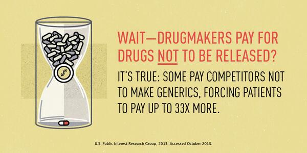 Wait--drugmakers pay for meds NOT to be released? It's true & could cost you.  http://t.co/ydTpfoWCmC #letstalkcost http://t.co/F5CGF5QFtE