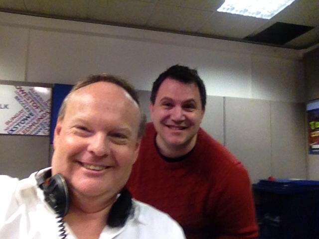Mark Murphy & Matt Porter in the BBC Radio Suffolk studio