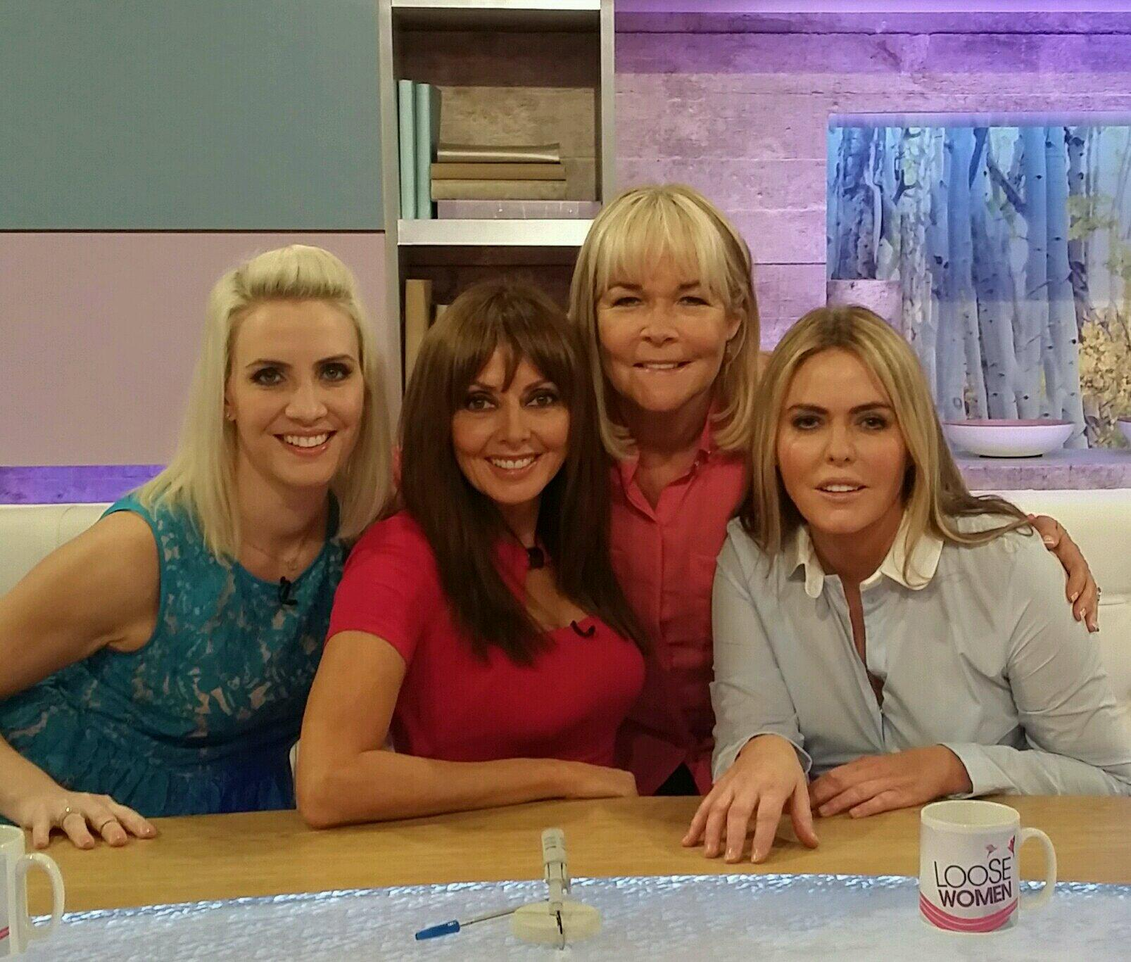 On @loosewomen with @LindaRobson58 Patsy K and @_clairerichards  at 12.30.... Ooh er missus... Xx http://t.co/TwHM9uHP8G