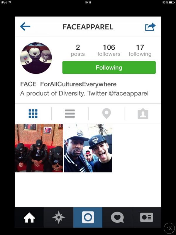 DVFAM!! Make sure you're following -->> @faceapparel a product of @Diversity_Tweet ! Follow them on Instagram too!