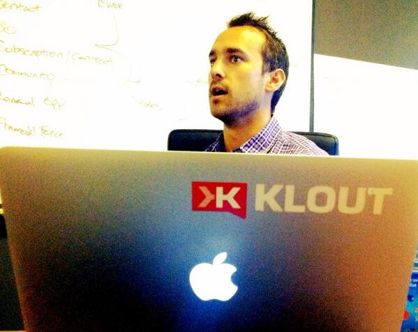 #SFtrip Excited to be @klout just a week after their $200MM acquisition! Congrats @JoeFernandez & @PatrickMThomas http://t.co/vDL35GEC6V