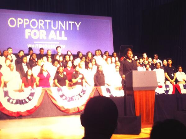An amazing Monday in @PrinceGeorgesMD! @BarackObama visits County for 4th time in 2014 @pgcps #BladensburgHigh http://t.co/kkISsnPaYe