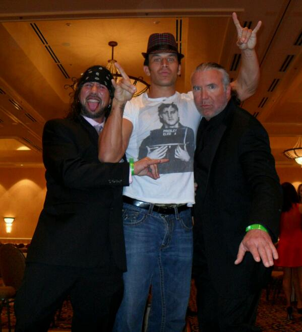 @TheRealXPac @SCOTTHALLNWO @WWEFandango at the #WrestleMania after-party http://t.co/cdCyOveDN7