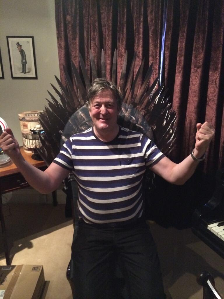 Not a spoiler, but the Iron Throne is MINE, I tell you. A Fry, unlike a Lannister, NEVER pays his debts. #GoTNOWTV http://t.co/LL0SgDpNNX