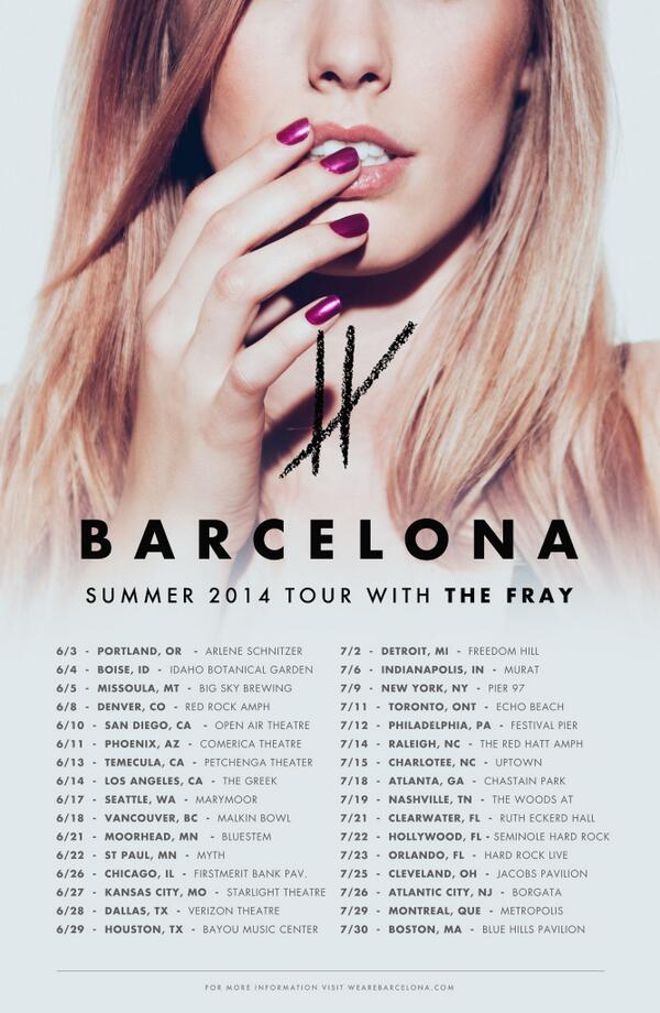 Excited to announce our summer tour supporting @TheFray ! http://t.co/Gm6DXiKEJ1