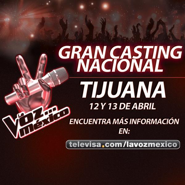 Asiste al casting de #LaVozMexico este 12 y 13 de abril en Tijuana. Más información aquí: http://t.co/9de5bvJ9eI http://t.co/V4njo6jtoZ