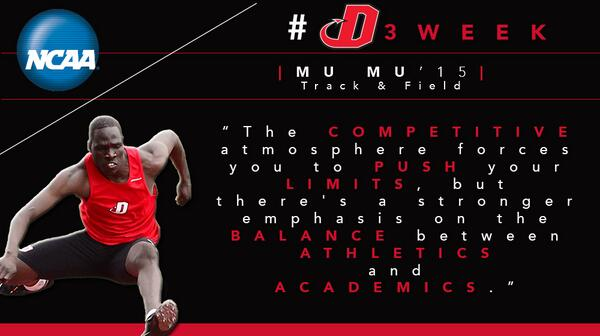 """@DickinsonCol: MT @DsonRedDevils: Mu Mu '15 shares #whyd3 for @NCAADIII #d3week! It's all about balance: http://t.co/sFasuhc18a"""