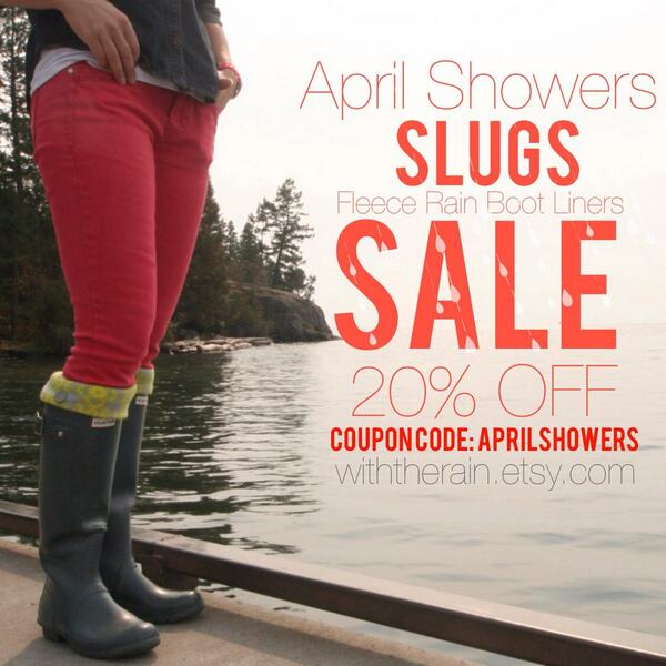 I'm having a Facebook #giveaway for a #free pair of SLUGS fleece rain boot liners! visit http://t.co/mEYrA8tPUe http://t.co/oojWpNIA9t