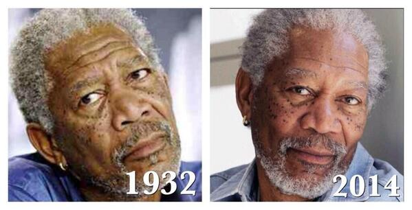 I've said this for years!! Morgan Freeman was born OLD. http://t.co/cWKrUzGiHl