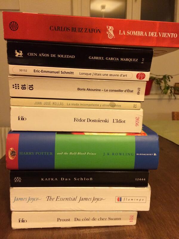 #MyTopTenBooks (sur une idée originale de la librairie de midi, Oron la Ville, CH) http://t.co/8MGEWp7g3d