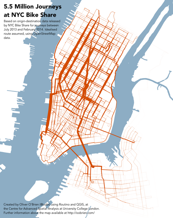 Streetsblog New York On Twitter Data From Citibike Leads To Maps