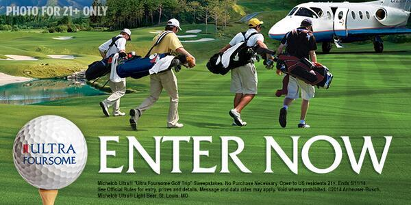 Our Friends at Michelob ULTRA are Offering an Incredible Golf Getaway! Enter Here! http://t.co/Z3IrQ6sL90  http://t.co/k4L242VKJz