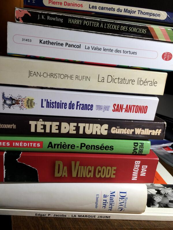 #MyTopTenBooks pas facile, et forcément incomplet... http://t.co/JH3MmMWod0