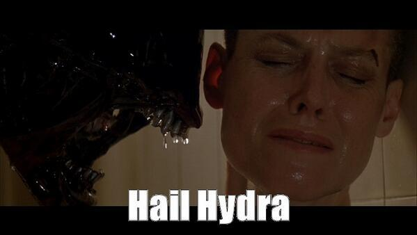 I'm proud of this contribution. RT @AMCTheatres In space, no one can hear you whisper #HailHydra. http://t.co/DllU7RlSEs