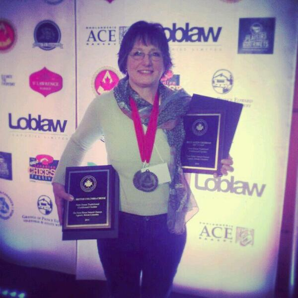 We won Gold! 2014 BC Best Cheese & Canada's Best Aged Cheddar #cdncheese @eatlocalnatural @VanMarkets #vancouver http://t.co/SEXnXXVk70