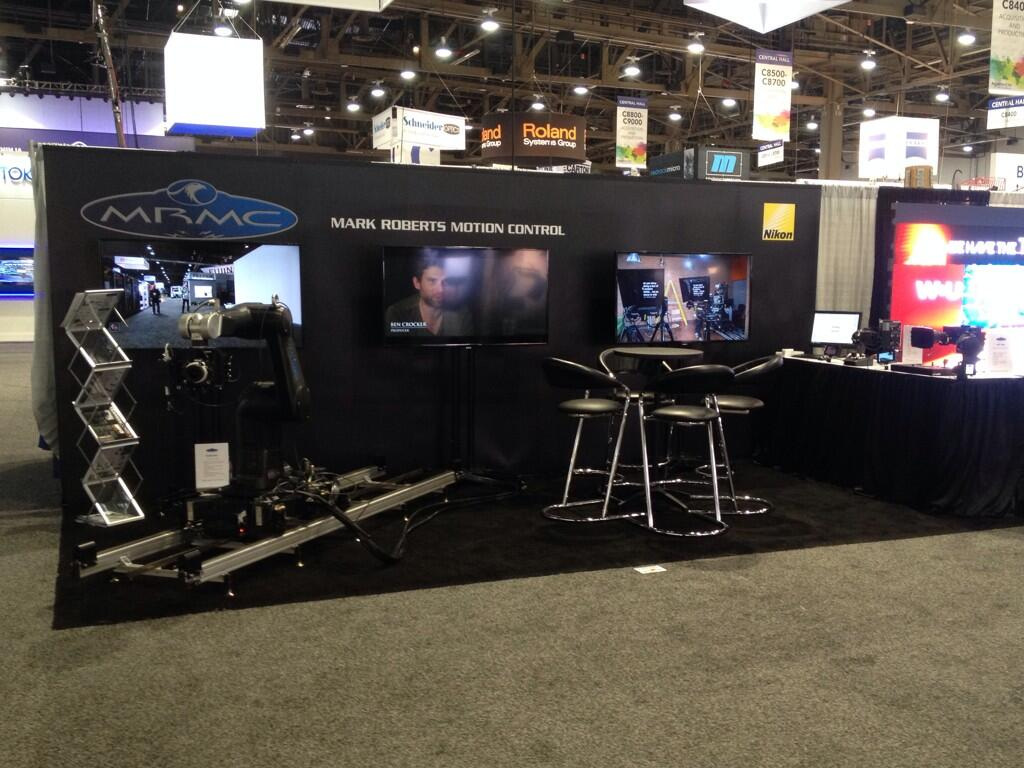 Twitter / mrmoco1: NAB 2014 booth all ready before ...
