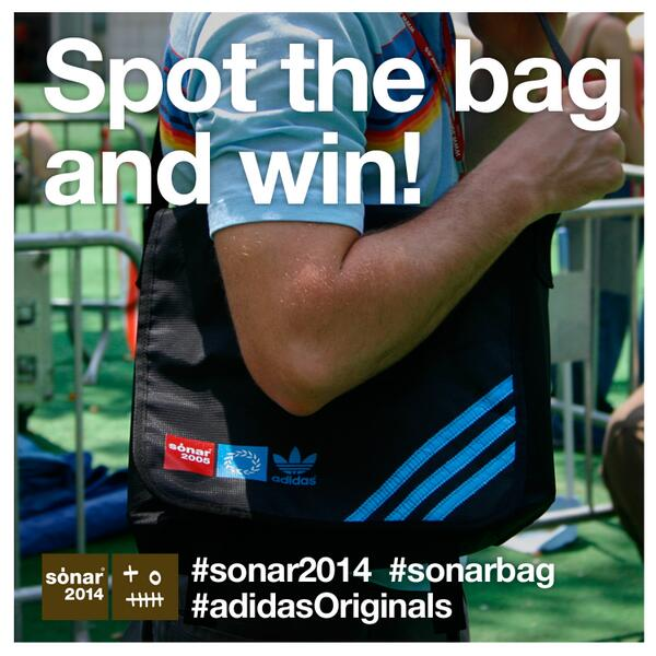 Want to win 2 #sonar2014 Passes and 2 #adidasOriginals #sonarbag? Spot the bag and win! http://t.co/X0EWN8tux7 http://t.co/reUODAamzC