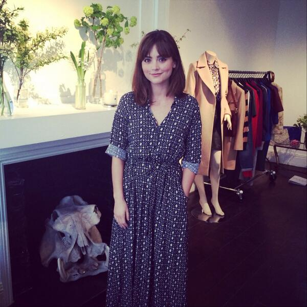 Gorgeous Jenna Louise Coleman from Dr Who pops by the #LMPRpressday ❤️ http://t.co/hmvwdWHPQe