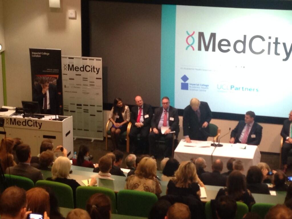 1/2 Delighted to unveil plans for MedCity - Oxford, Cambridge & London together in world beating life science cluster http://t.co/EIomsk5NMT