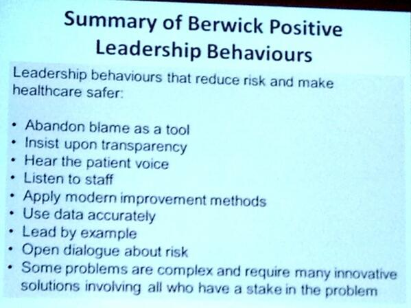 Positive leadership behaviors=Quality & Safe Healthcare HT @WePublicHealth    http://t.co/ktdW2tazH5 #Quality2014 cc #HCLDR