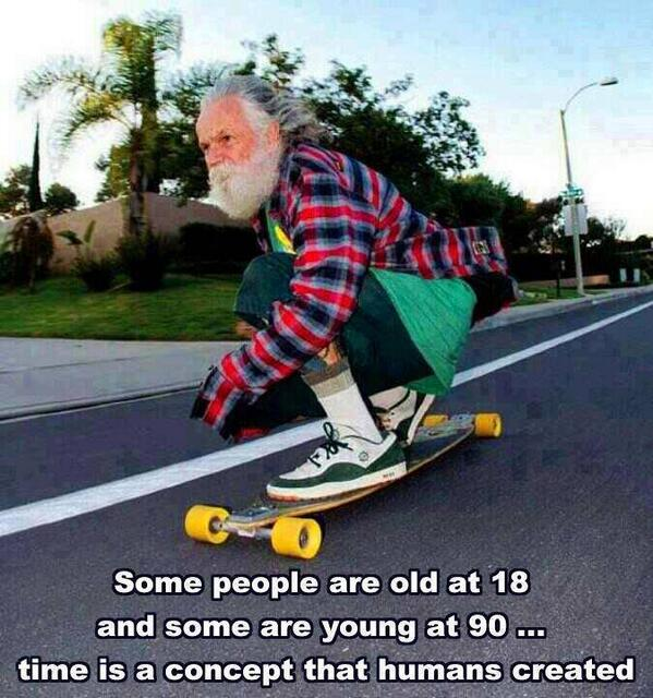 old people acting young